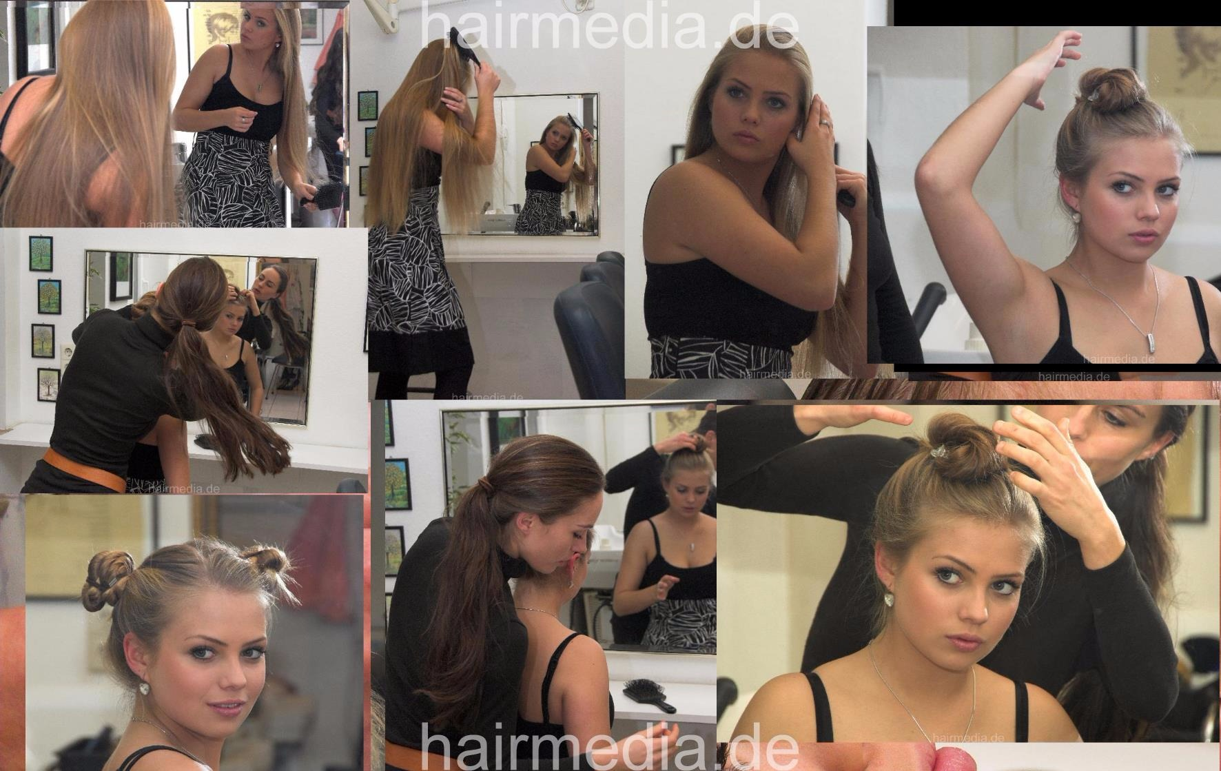192 Malin Demo hair play HD video for download