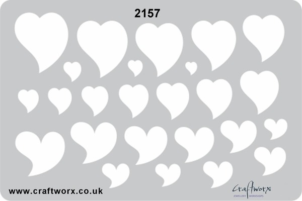 Craftworx Metal Clay Template #2157