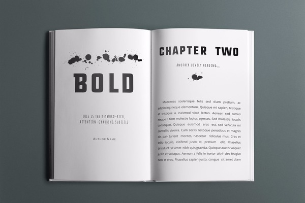 Bold Book Interior Template - 30+ Pages