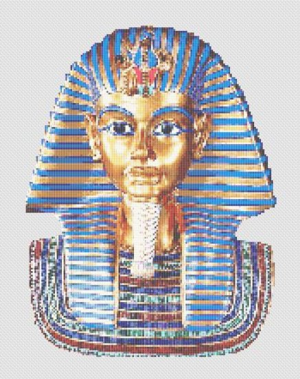 King Tut Mask Egyptian Cross Stitch Pattern