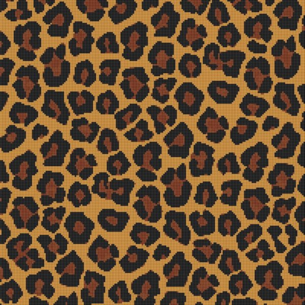 Leopard Print Cross Stitch Pattern