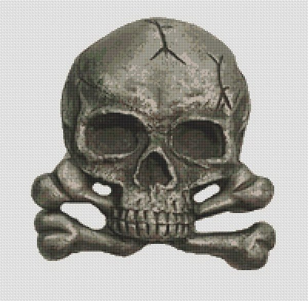 Skull and Crossbones Cross Stitch Pattern