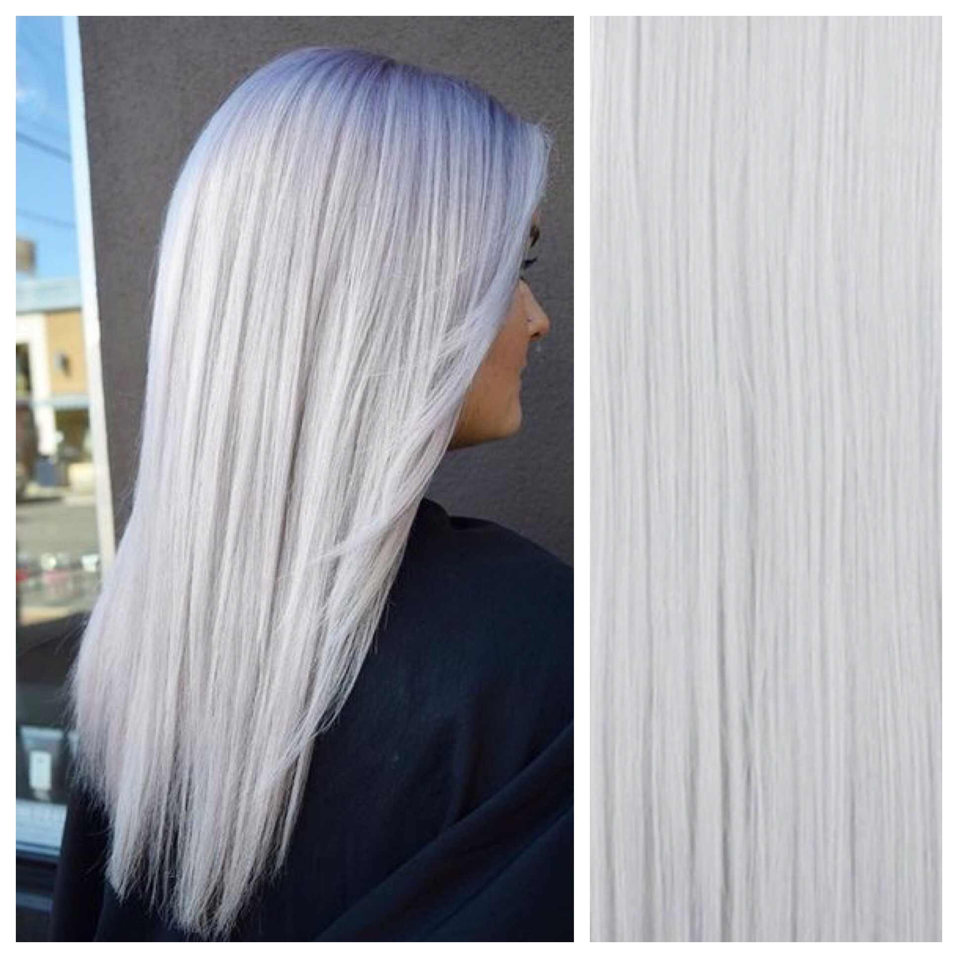 Silver Clip In Hair Extensions 26 Pastel Platinum Remy Human Hair
