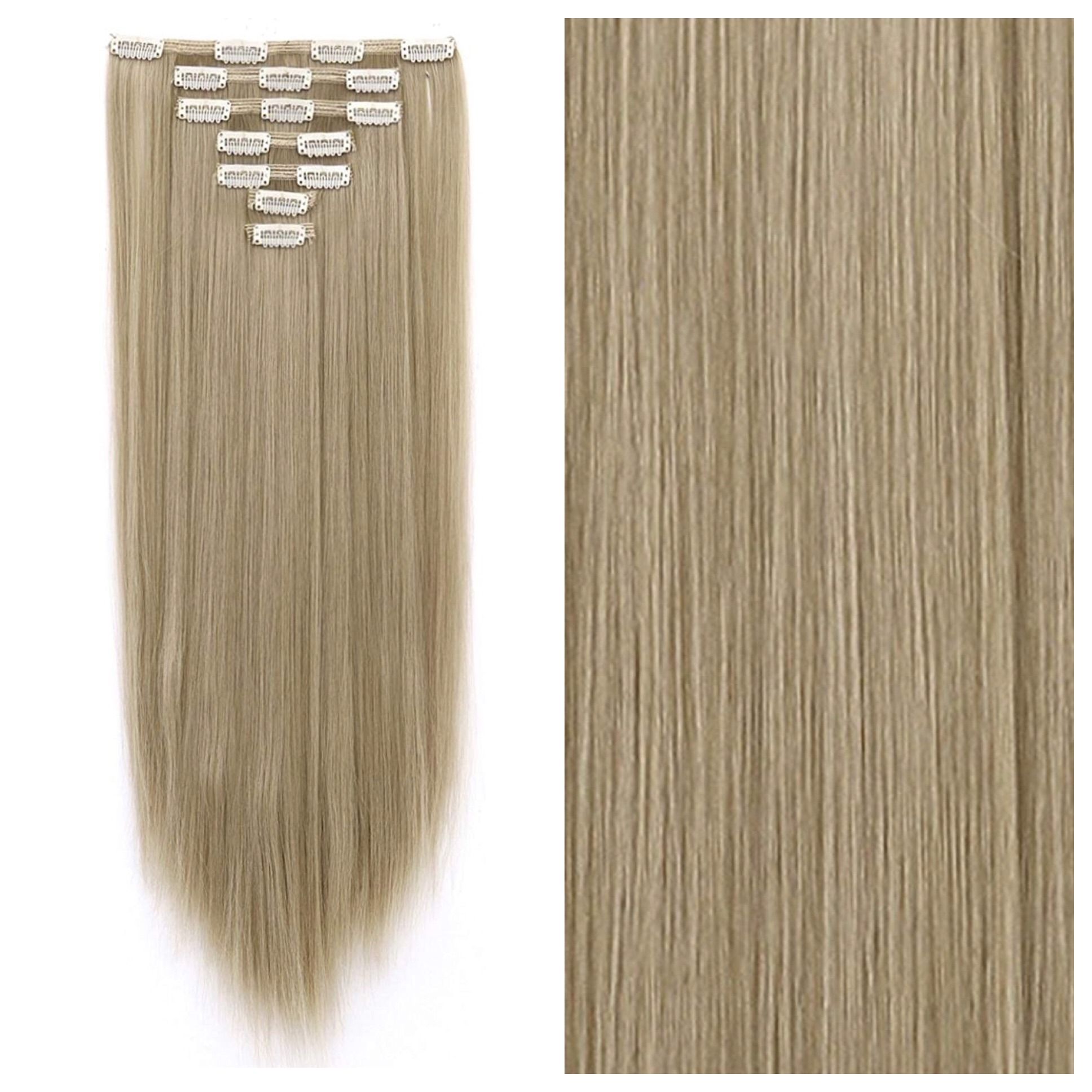 Dirty Blonde Clip In Hair Extensions 26 Double Weft 200g Remy Human