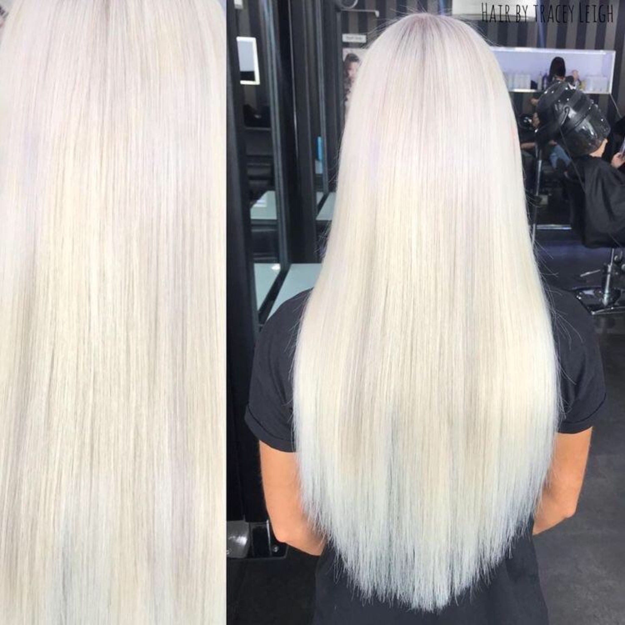 White Blonde Clip In Hair Extensions 24 Double Weft 180g Platinum