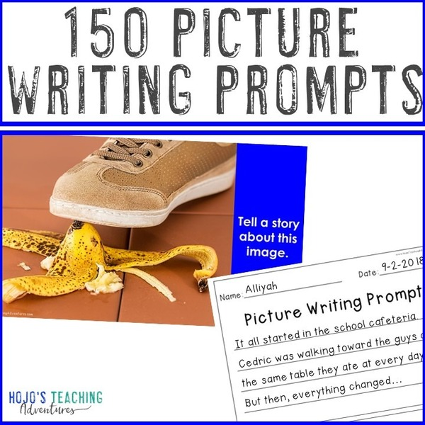 150 EDITABLE Picture Writing Prompts for Students