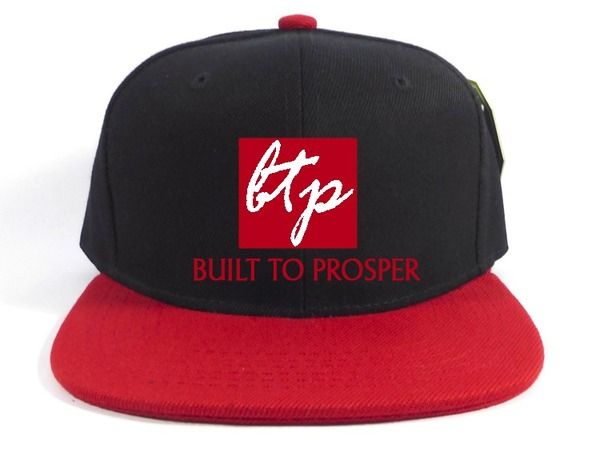 BTP Men Black and Red Snapback