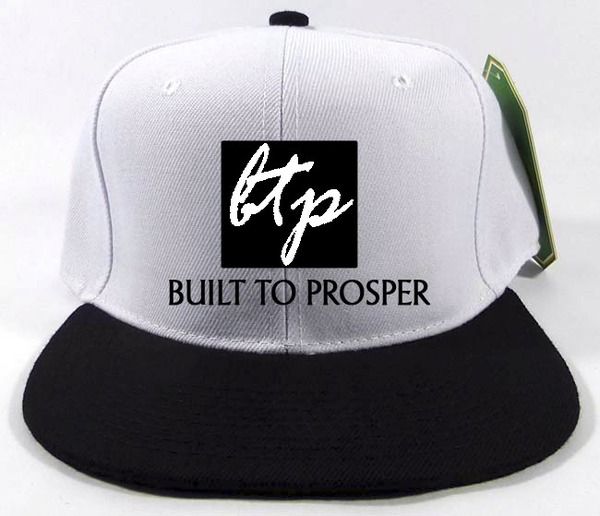 BTP Men White and Black Snapback