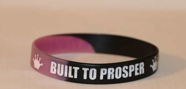 Built To Prosper Purple and Black Wristband