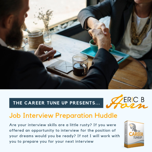 Job Interview Preparation Huddle (30 min one on on virtual session)