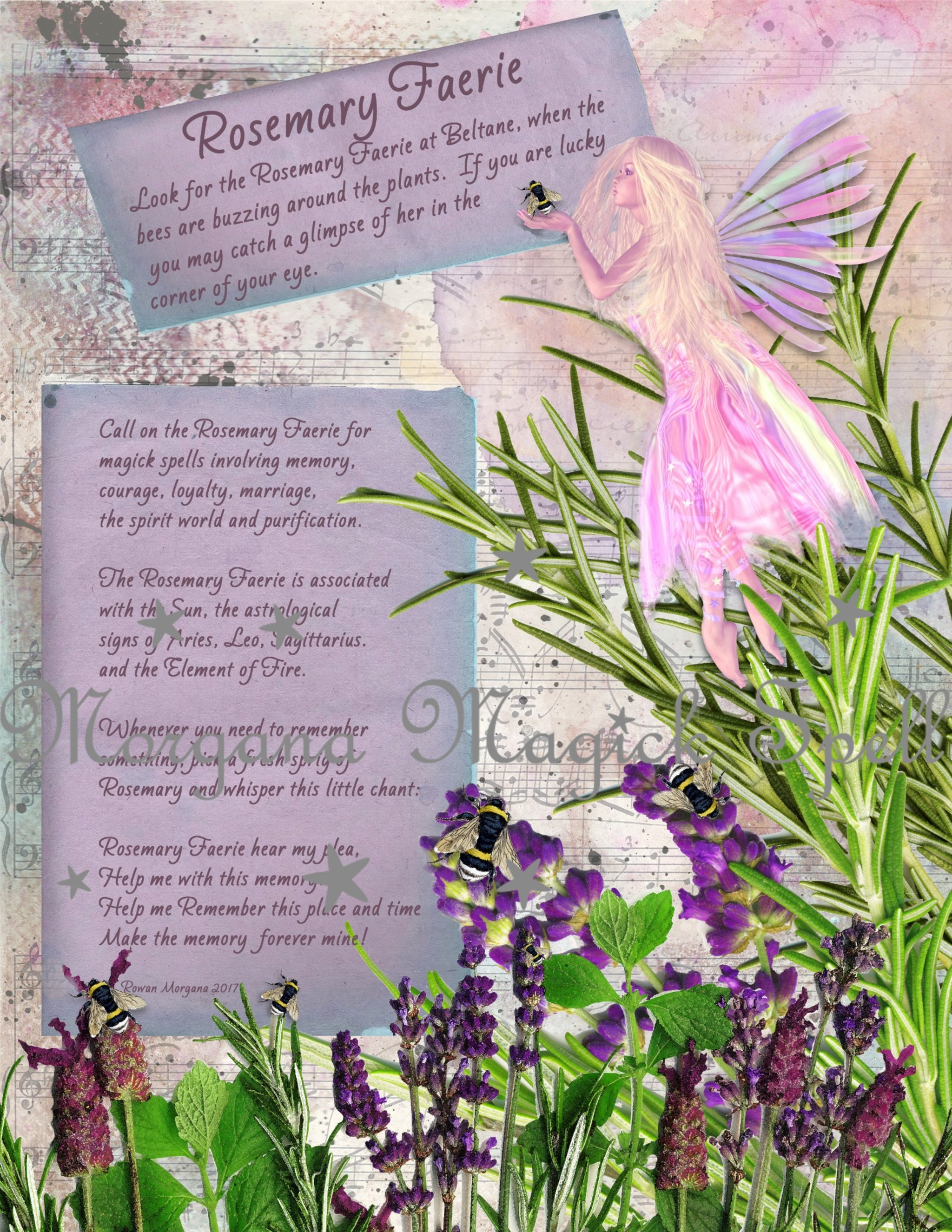 The ROSEMARY FAERIE Realm of the Fey Lore - Morgana Magick Spell