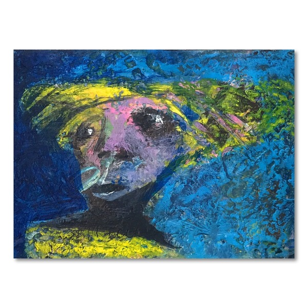 Original Small Abstract Portrait Series of People by Ken Law Art