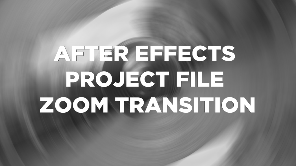 Zoom Transition After Effects Project File - Josh Enobakhare