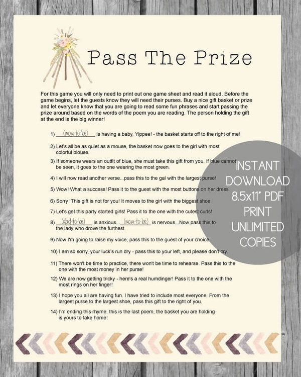 Baby Shower Games Print It Baby
