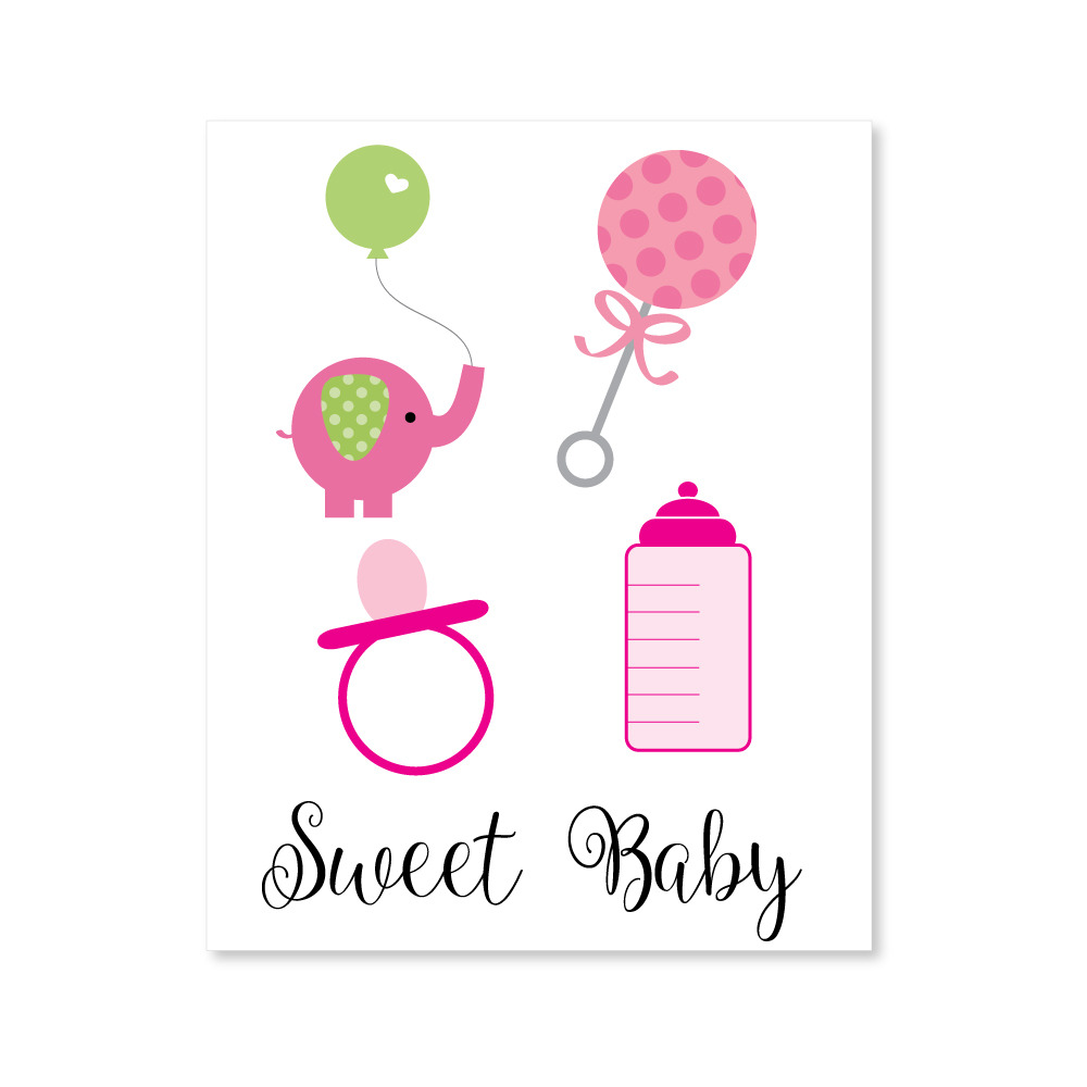 Baby Shower Picture Images ~ Baby shower girl clipart print it