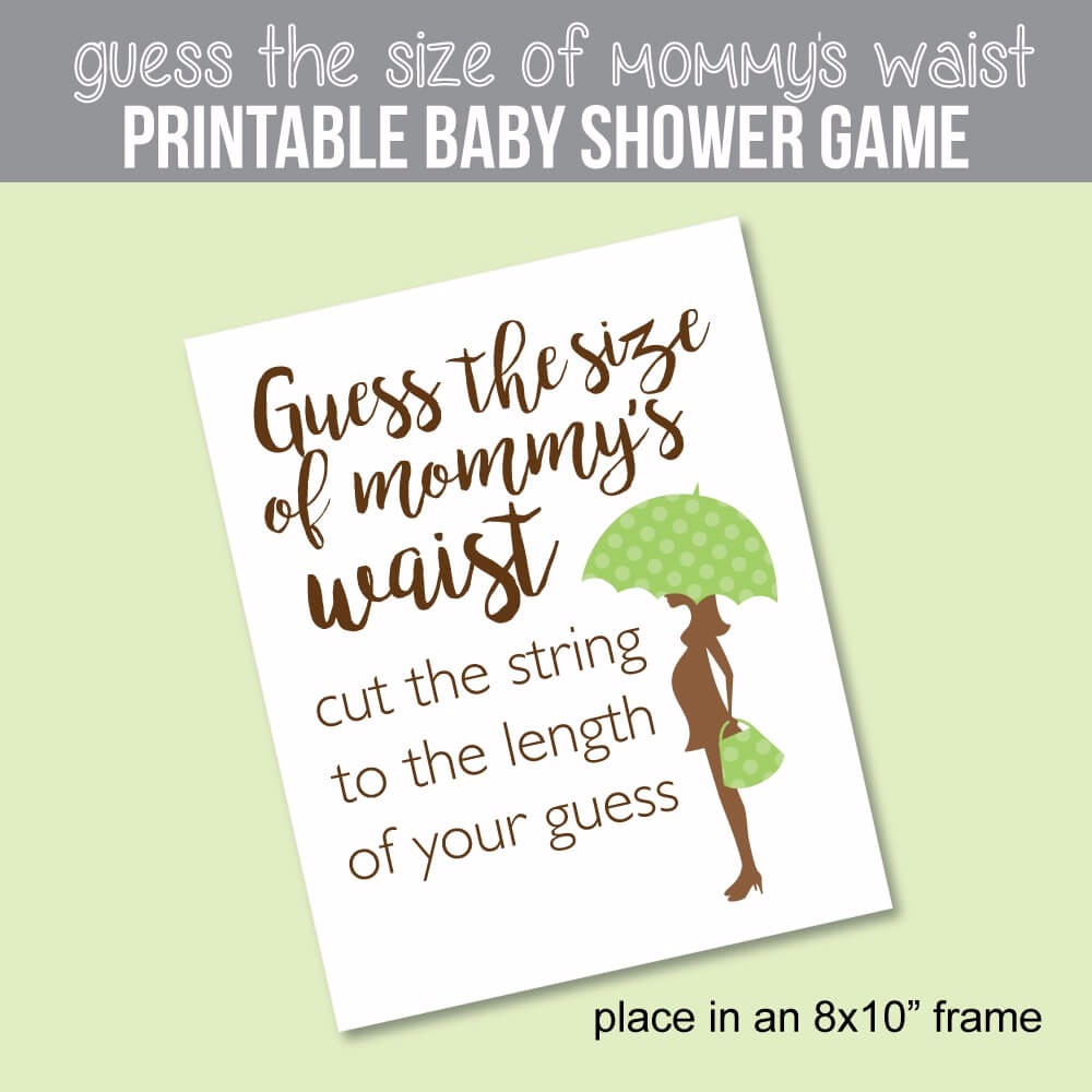 Sweet image within guess mommy's tummy size printable
