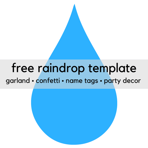 free printable raindrop clip art template print it baby