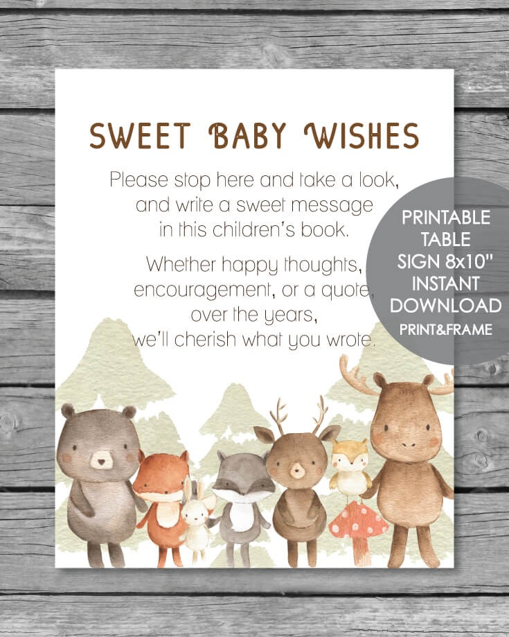 Woodland Wall Art set of 6 animals 30%OFF - Woodlands ...  Woodland Creature Baby Shower Quotes