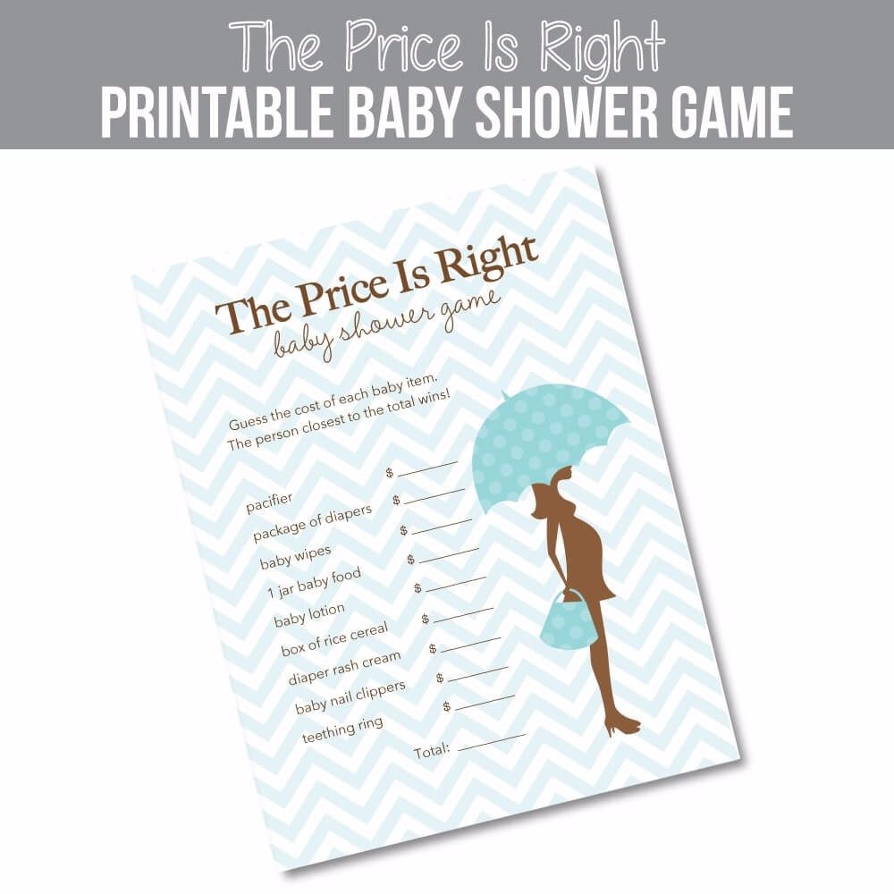 It is a graphic of Gutsy The Price is Right Baby Shower Game Free Printable
