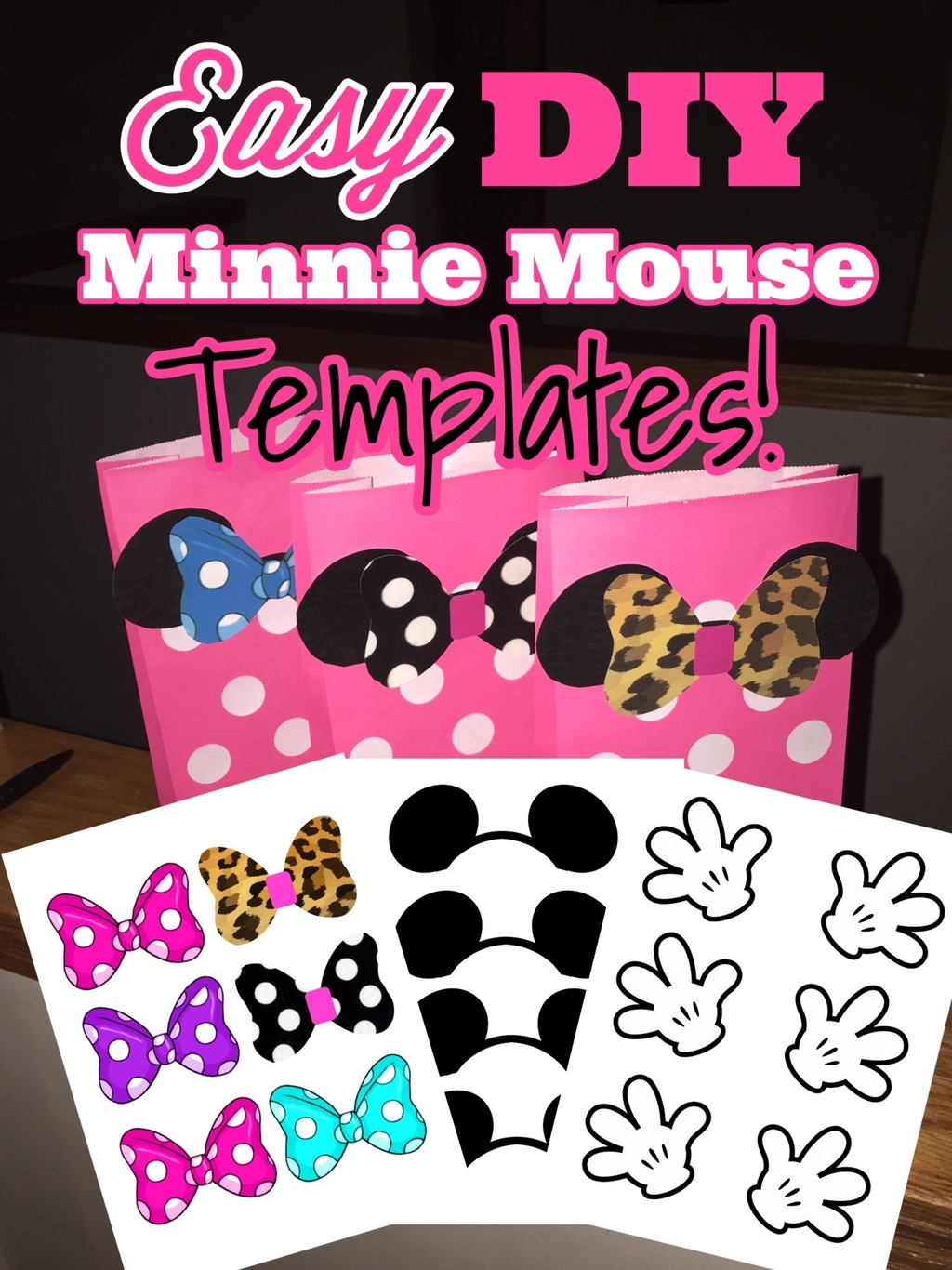 Minnie Mouse Ears Bow Template Posh Pixel Boutique