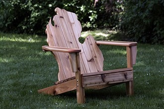 Michirondack Chair   Cedar