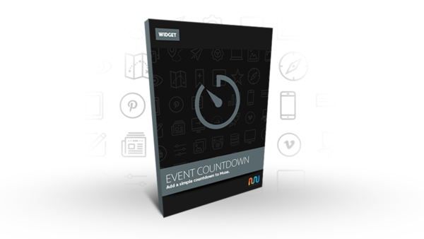 Adobe Muse Widget or Adobe Muse Template | Event Countdown