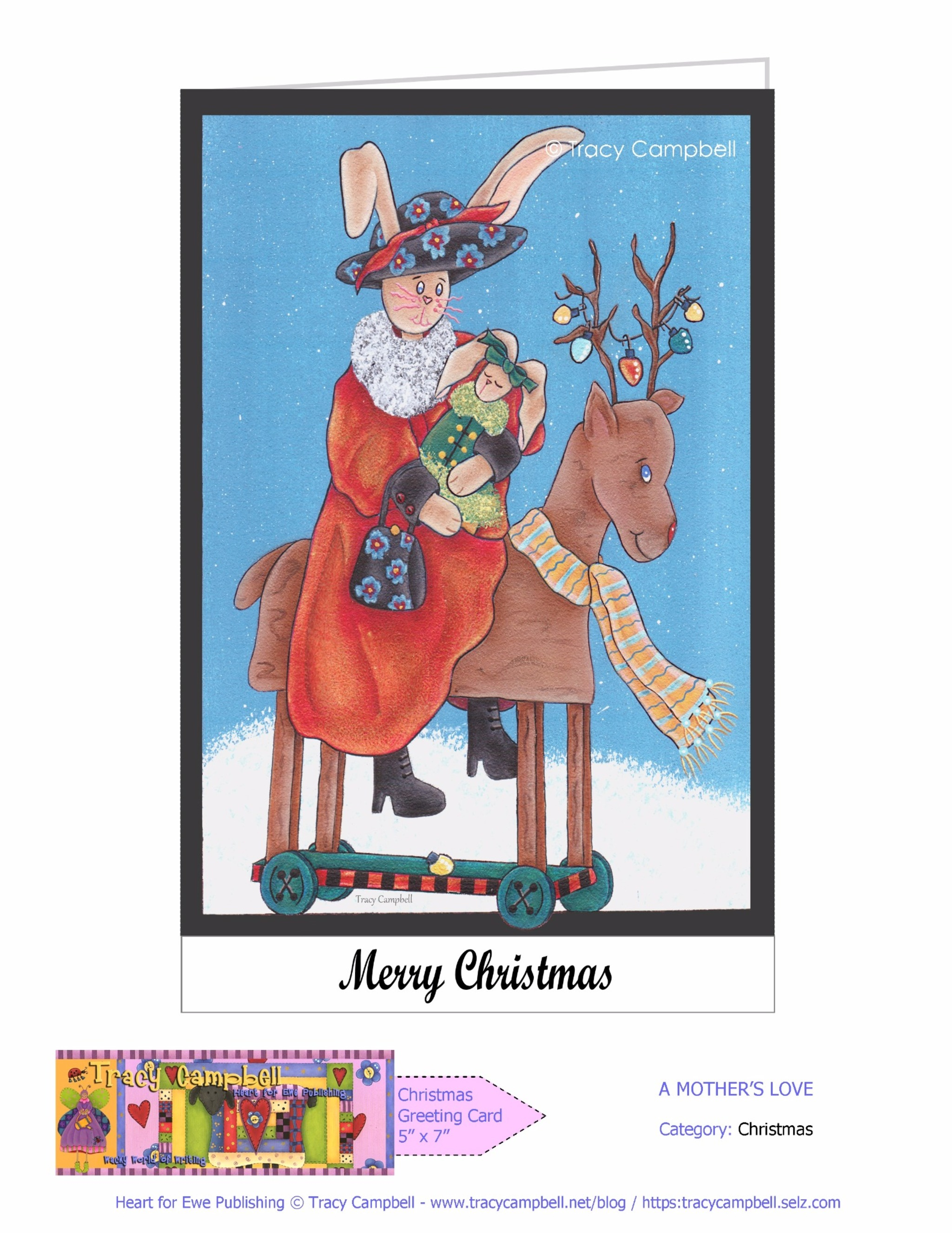 A MOTHER'S LOVE CHRISTMAS GREETING CARD