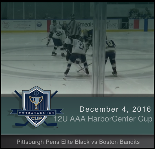 12U AAA Pittsburgh Pens Elite Black vs Boston Bandits