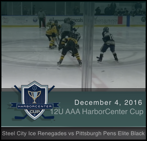 12U AAA Steel City Ice Renegades vs Pittsburgh Pens Elite-Black