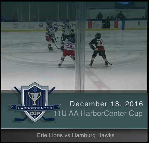 11U AA Erie Lions vs Hamburg Hawks