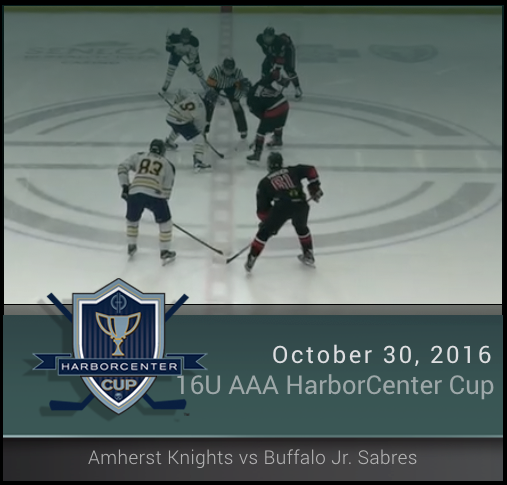 16U AAA Amherst Knights vs Buffalo Jr. Sabres