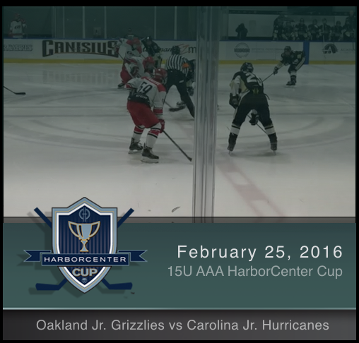 15U AAA Oakland Jr. Grizzlies vs Carolina Jr. Hurricanes