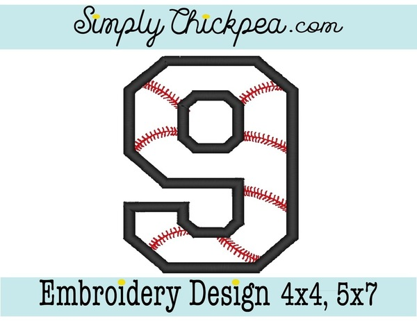 Baseball Embroidery Designs Simply Chickpea Designs