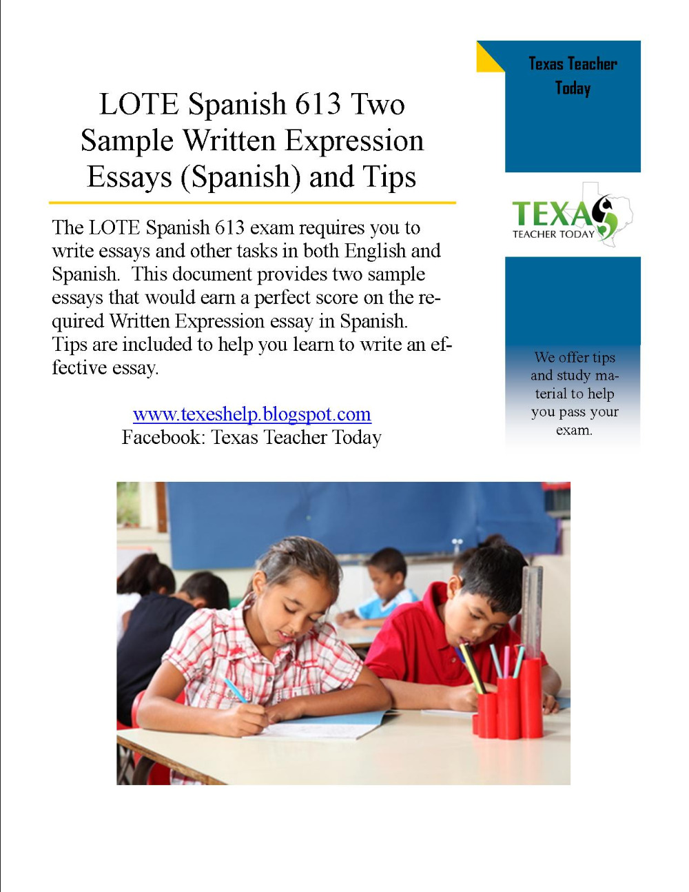spanish written essays A wide range of actvities for spanish writing: higher level.