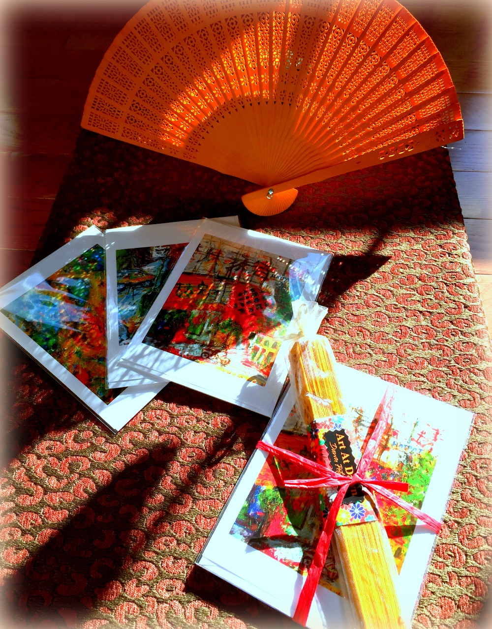 Card Gift Set with Fan