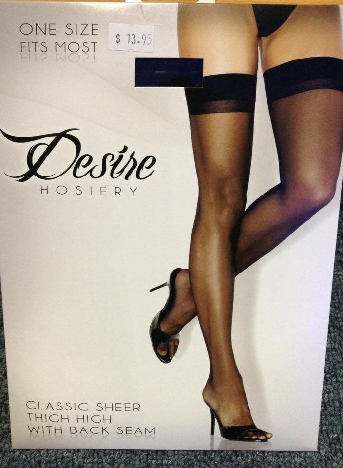 6d0c701e3 Desire Classic Sheer Thigh High with Back Seam os black - Sweet Temptations  Lingerie   Costumes Online Store