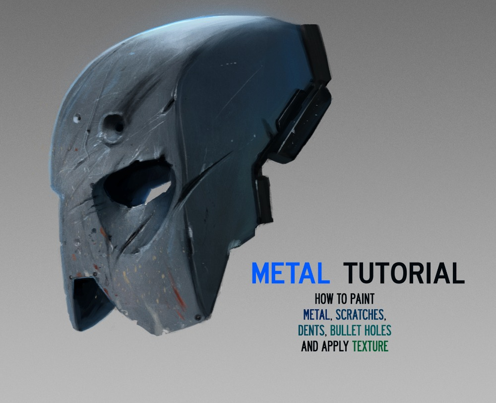how to paint metal texture